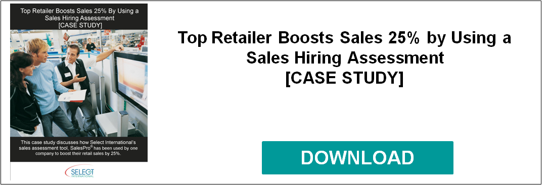 Top Retailer Boosts Sales 25% By Using Sales Hiring Assessment