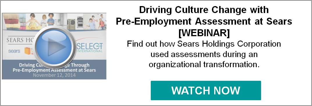 Driving Culture with Pre-Employment Assessment at Sears