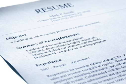 resume reviews reliable for employee selection