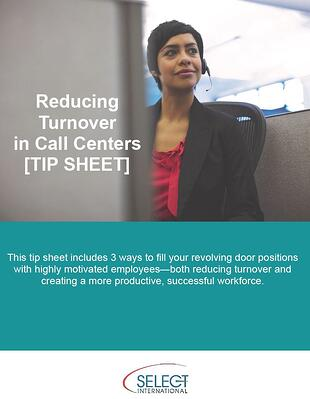 reduce turnover in call centers