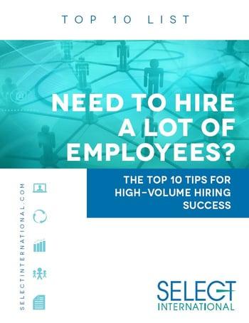 10 tips for high volume hiring